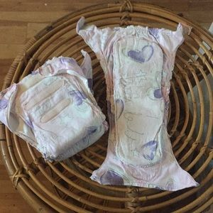 Lot of 3 reusable washable cloth cotton diapers